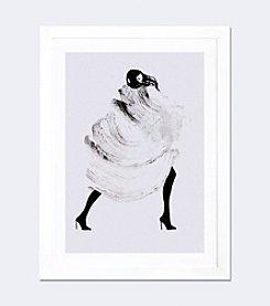 iCanvas Running Late III by Judith van den Hoek Framed Fine Art Paper Print