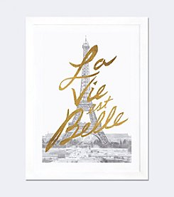iCanvas Gilded Paris by All That Glitters Framed Fine Art Paper Print