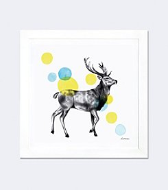 iCanvas Sketchbook Lodge Stag by Lamai McCartan Framed Fine Art Paper Print