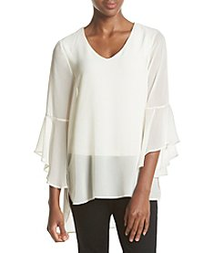 Ruff Hewn GREY Double Layered Blouse