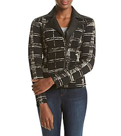 Ruff Hewn GREY Plaid Moto Jacket