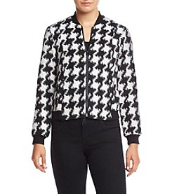 Ruff Hewn GREY Houndstooth Bomber Jacket