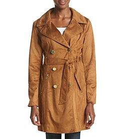 GUESS Faux Suede Trench Coat