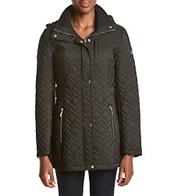 Calvin Klein Hooded Quilt Coat