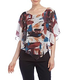 AGB® Brush Stroke Print Popover Top