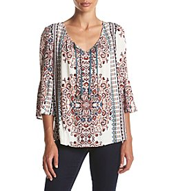 Oneworld® Medallion Print Floaty Top