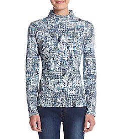 Studio Works® Petites' Mock Neck Printed Top