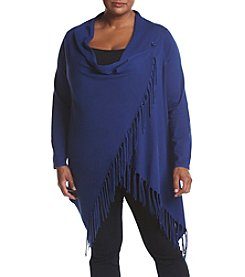 Chelsea & Theodore® Plus Size Fringe Trim Sweater