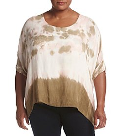 Democracy Plus Size Tie-Dye Boxy Top