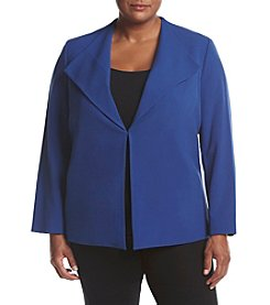 Nine West® Plus Size Solid Stretch Crepe Jacket