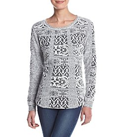 Ruff Hewn Petites' Scroll Patchwork Sweater