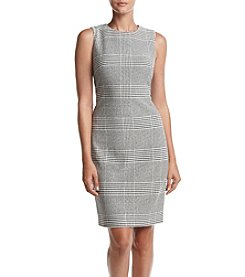 Calvin Klein Glen Plaid Sheath Dress