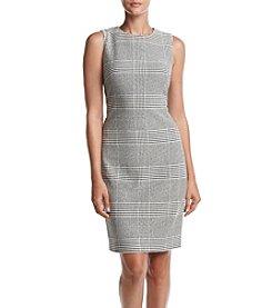 Calvin Klein Glen Plaid Sheath Dress