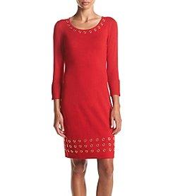 Calvin Klein Grommet Trim Sweater Dress