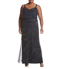 Adrianna Papell® Plus Size Embellished Long Blouson Dress