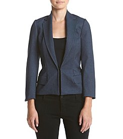 Jones New York® Printed Indigo Single Closure Blazer