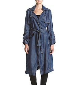 Jones New York® Silky Tencel Denim Trench