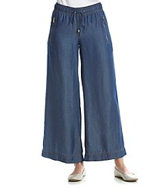 Jones New York® Silky Tencel Denim Wide Leg Cropped Pants