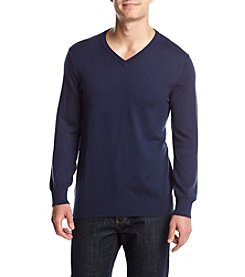 Izod® Men's Fine Gauge Solid V-Neck Sweater