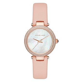 Michael Kors® Women's Mini Parker Rose Goldtone And Pink