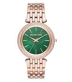 Michael Kors® Women's Darci Rose Goldtone Three Hand Watch