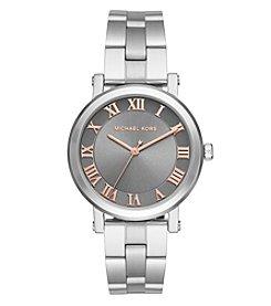 Michael Kors® Women's Silvertone Norie Stainless Steel Three Hand Watch