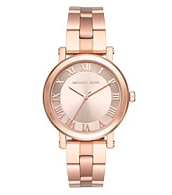 Michael Kors® Women's Norie Rose Goldtone Three Hand Watch