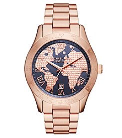 Michael Kors® Women's Layton Rose Goldtone Three Hand Watch