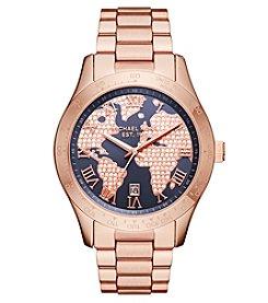 Michael Kors® Women's Layton Rose Goldtone Three Hand Watch