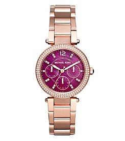 Michael Kors® Women's Mini Parker Rose Goldtone Three Hand Watch