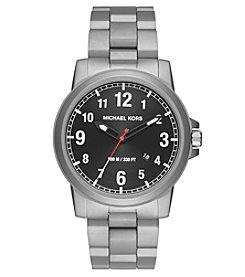 Michael Kors® Men's Silvertone Paxton Stainless Steel Three Hand Watch