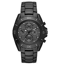 Michael Kors® Men's Jetmaster Black IP Chronograph Watch