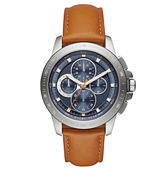 Michael Kors® Men's Ryker Stainless Steel And Luggage Le