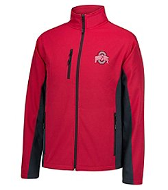 J. America® NCAA® Ohio State Buckeyes Men's Full Zip Softshell Jacket
