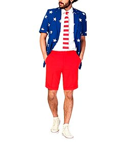 OppoSuits Men's Stars And Stripes Summer Suit
