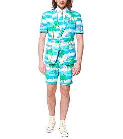 OppoSuits Men's Flaminguy Summer Suit