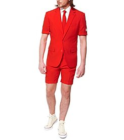 OppoSuits Men's Red Devil Summer Suit