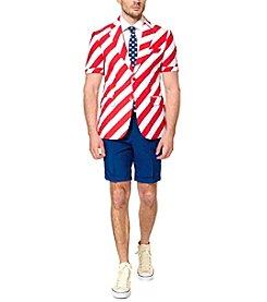 OppoSuits Men's United Stripes Summer Suit