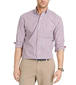 Izod® Men's Big & Tall Long Sleeve Tattersall Button Down Shirt
