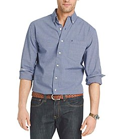 Izod® Men's Big & Tall Long Sleeve Tattersal End On End Button Down Shirt