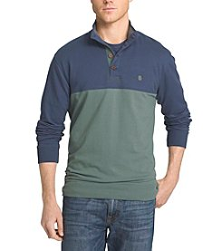 Izod® Men's Big & Tall Long Sleeve Quarter Button Pullover