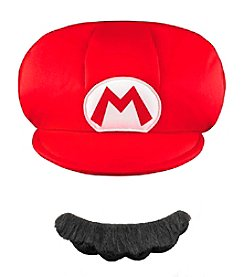 Nintendo® Super Mario Bros® Mario Child Hat & Mustache Set