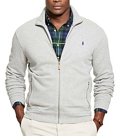 Polo Ralph Lauren® Men's Big & Tall Long Sleeve French Ribbed Full Zip Jacket
