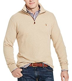 Polo Ralph Lauren® Men's Big & Tall Long Sleeve French Ribbed Half Zip Pullover