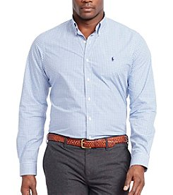 Polo Ralph Lauren® Men's Big & Tall Long Sleeve Poplin Button Down Shirt