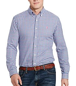 Polo Ralph Lauren® Men's Big & Tall Long Sleeve Twill Button Down Shirt