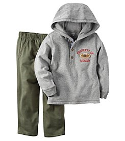 Carter's® Boys' 2T-4T 2-Piece Hooded Football Tee And Pants Set