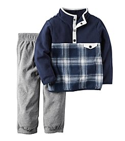 Carter's® Boys' 2T-4T 2-Piece Plaid Pullover And Joggers Set