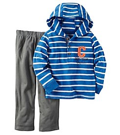 Carter's® Boys' 2T-4T 2-Piece Hooded Team Captain Tee And Pants Set