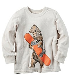 Carter's® Boys' 2T-8 Long Sleeve Snowboarding Bear Tee